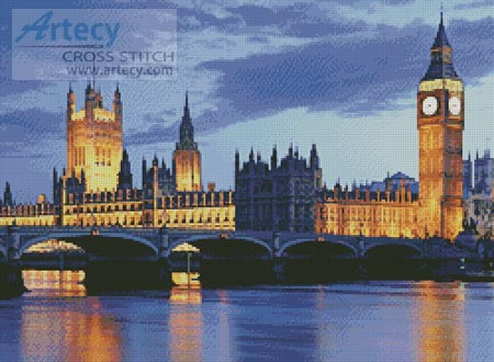 London at Dusk - Cross Stitch Chart