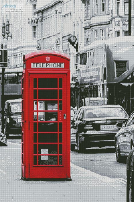 London Phone Booth - Cross Stitch Chart