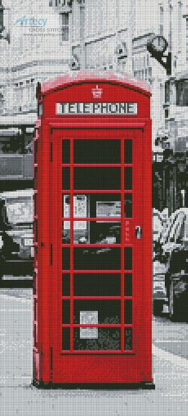 London Phone Booth (Crop) - Cross Stitch Chart