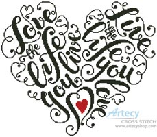 Love the Life - Cross Stitch Chart