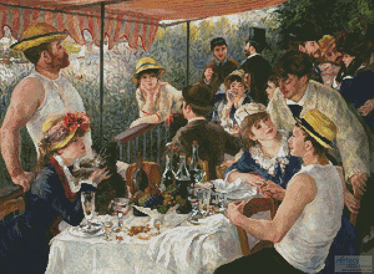 Luncheon of the Boating Party - Cross Stitch Chart