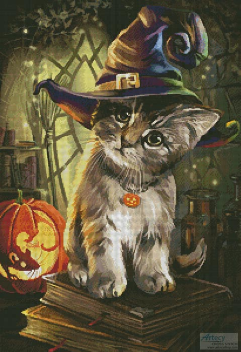 Magic Cat - Cross Stitch Chart