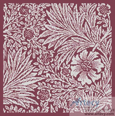 Marigold Mauve - Cross Stitch Chart