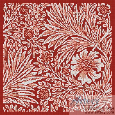 Marigold Red - Cross Stitch Chart