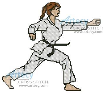 Martial Arts Girl - Cross Stitch Chart