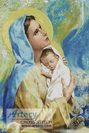 Mary and Baby Jesus - Cross Stitch Chart