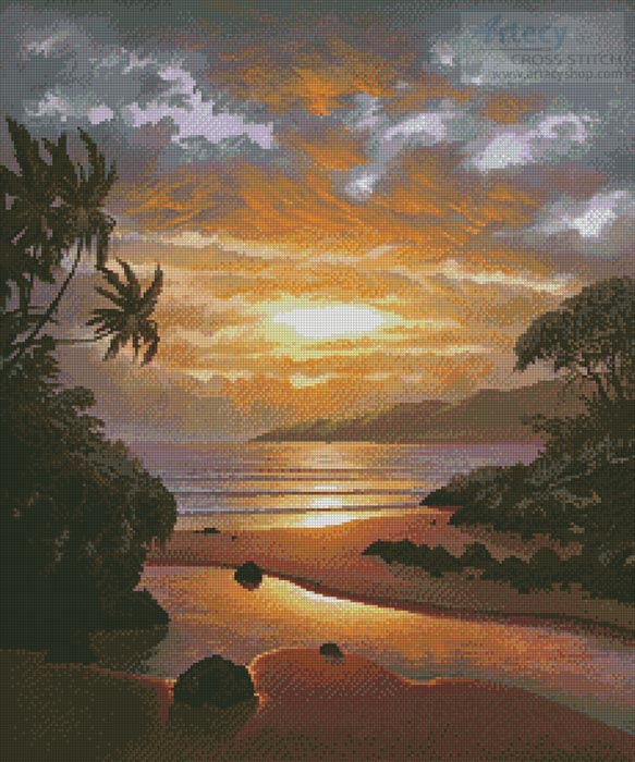 Memories of the Sunset - Cross Stitch Chart