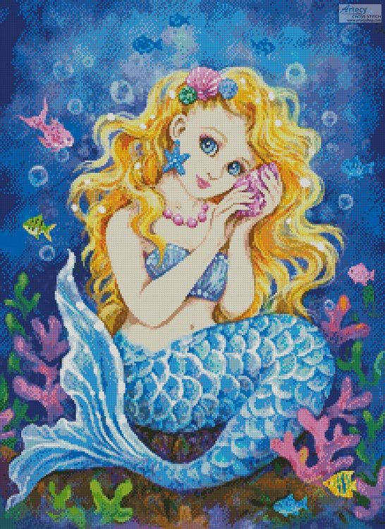 Mermaid Call - Cross Stitch Chart