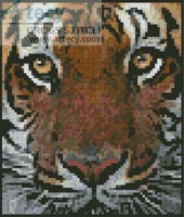 Mini Bengal Tiger Face - Cross Stitch Chart