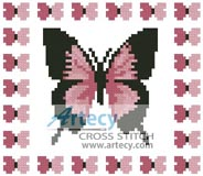 Mini Butterfly Sampler 4 - Cross Stitch Chart