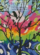 Mini Birds in Tree - Cross Stitch Chart