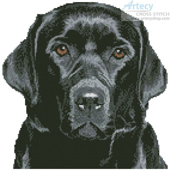 Mini Black Labrador - Cross Stitch Chart
