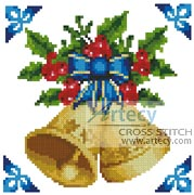 Mini Christmas Bells - Cross Stitch Chart