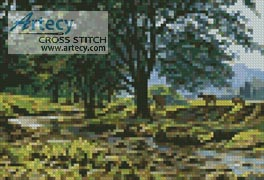 Mini Cow Creek - Cross Stitch Chart