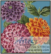 Mini Dahlias - Cross Stitch Chart