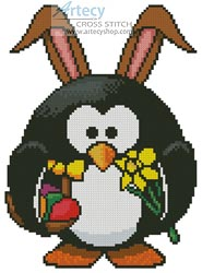 Mini Easter Penguin - Cross Stitch Chart
