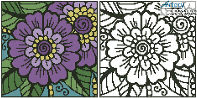 Mini Flower Design 1 - Cross Stitch Chart