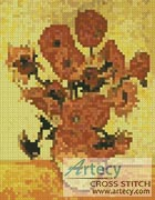 Mini Fourteen Sunflowers - Cross Stitch Chart