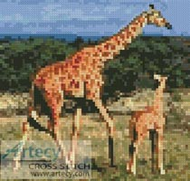 Mini Giraffes - Cross Stitch Chart