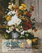 Mini Grand Bouquet of Flowers - Cross Stitch Chart