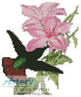 Mini Hummingbird - Cross Stitch Chart