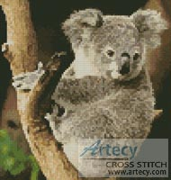 Mini Koala on a Branch - Cross Stitch Chart