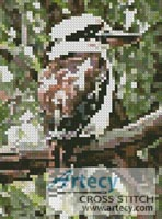 Mini Kookaburra - Cross Stitch Chart