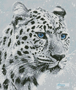 Mini Leopard in Snow - Cross Stitch Chart