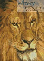 Mini Lion 6 - Cross Stitch Chart