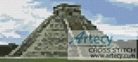 Mini Mayan Pyramid - Cross Stitch Chart