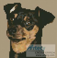 Mini Miniature Pinscher - Cross Stitch Chart