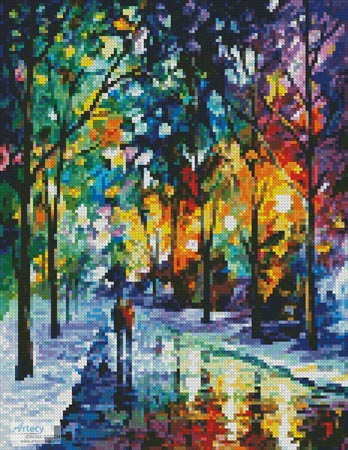 Mini Night Colors - Cross Stitch Chart