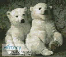 Mini Polar Bear Cubs 2 - Cross Stitch Chart