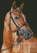 Mini Portrait of a Brown Horse - Cross Stitch Chart