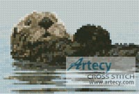 Mini Sea Otter - Cross Stitch Chart