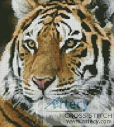 Mini Siberian Tiger - Cross Stitch Chart