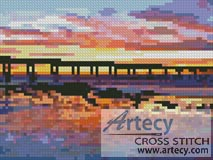Mini Sunset at Ocean Beach - Cross Stitch Chart