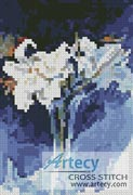 Mini White Lilies - Cross Stitch Chart