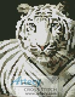 Mini White Tiger - Cross Stitch Chart