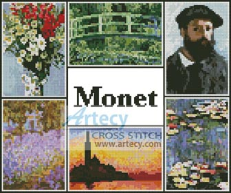Monet Sampler - Cross Stitch Chart