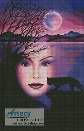 Moon Shadow - Cross Stitch Chart