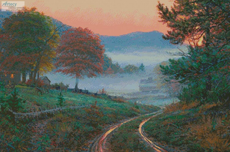 Morning in Cades Cove - Cross Stitch Chart