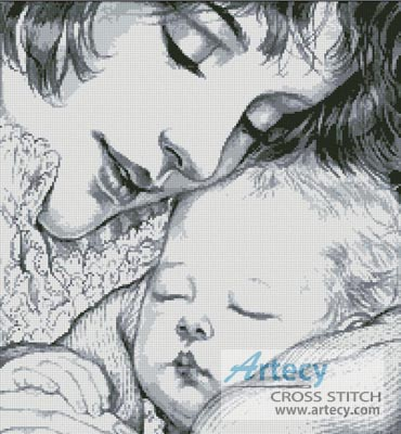 Mother Holding Baby - Cross Stitch Chart
