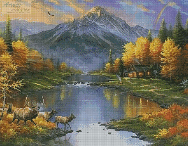Mountain Retreat - Cross Stitch Chart