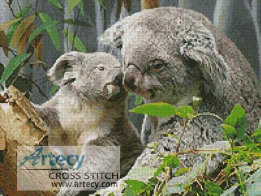 Mum and Baby Koala - Cross Stitch Chart