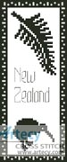 New Zealand Bookmark 1 - Cross Stitch Chart