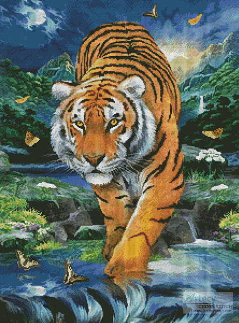 On the Prowl - Cross Stitch Chart