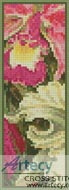 Orchids Bookmark - Cross Stitch Chart