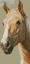 Palomino Horse Bookmark - Cross Stitch Chart