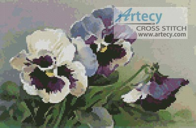 Pansies - Cross Stitch Chart